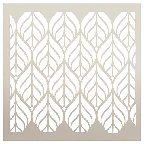 Fun with Shapes Abstract Leaf Nature Stencil StudioR12 | Wood Sign | Reusable Mylar Template | Wall Decor | Multi Layering Art Project | Journal Art Deco | DIY Home - Choose (6