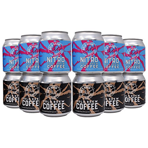 Nitro & Original Cold Brew Coffee Variety Pack - Bold Brew Coffee, Single-Origin Colombian Coffee | Natural Energy | Sugar, Gluten & Dairy Free, 0 Calories, 180 MG Caffeine | 8oz Can - (12 Pack)