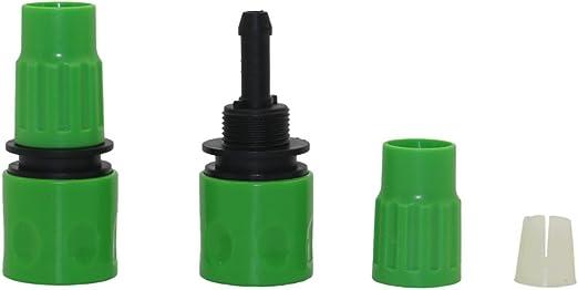 6 Piezas 3/8 Tubo telescópico Manguera Conectores rápidos Pistolas de jardín Accesorios: Amazon.es: Jardín