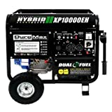 DuroMax XP10000EH, 8000 Running Watts/10000 Starting Watts, Dual Fuel Powered Portable Generator (Lawn & Patio)