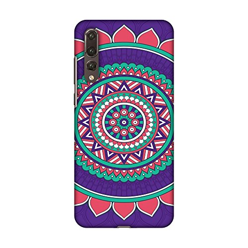 AMZER Slim Fit Handcrafted Designer Printed Snap On Hard Shell Case Back Cover with Screen Cleaning Kit Skin for Huawei P20 Pro - Mandala Beauty HD Color, Ultra Light Back Case