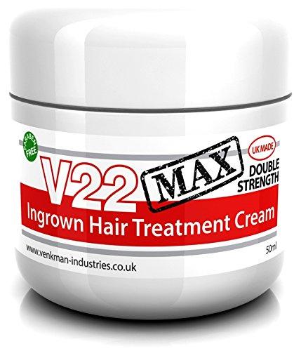 V22 MAX Doppelt Wirkende Behandlungscreme für eingewachsene Haare - 50ml