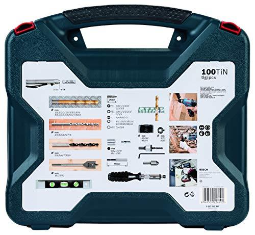 Kit de pontas e brocas em titânio Bosch X-Line com 100 peças