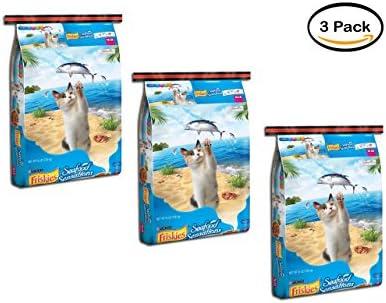 PACK OF 3 – Purina Friskies Seafood Sensations Cat Food 16 lb. Bag