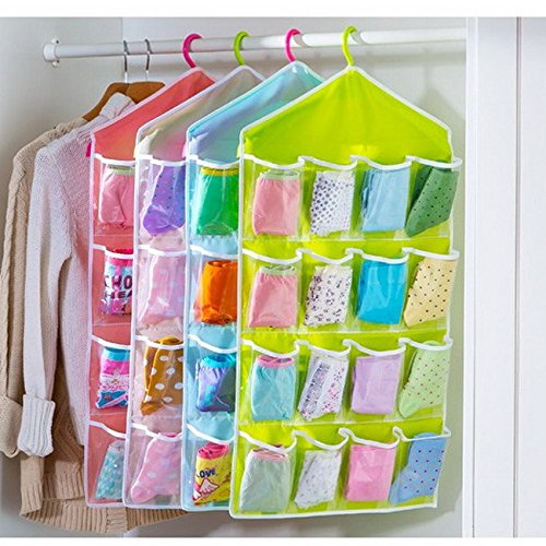 16 Pockets Hanging Over Door Wall Sock Baby Shoe Organiser
