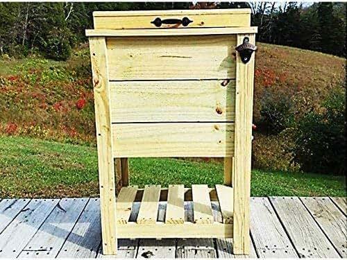 Amazon.com: 30 Qt Cooler Tall Wood Ice Box Ice Chest: Handmade