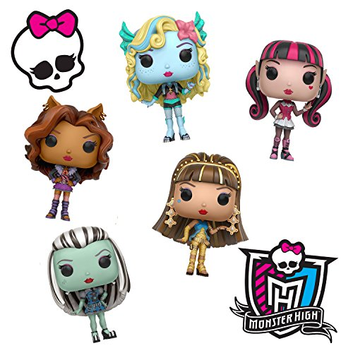 Monster High Toy Funko Pop Dolls Figures Combo Set - 5 Pack (Characters From Monster High)