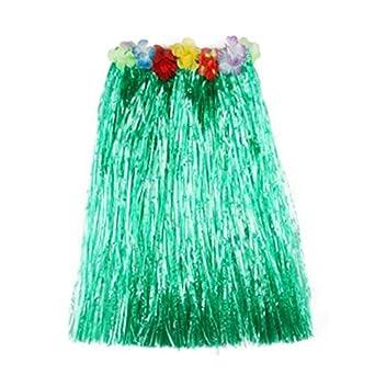 c76127c786134 Matissa Falda Hawaiana de Hula y Traje de Leis de Flores para Mujer Disfraz  de Luau ...