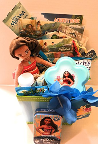 Disney Moana Easter Holiday Gift Basket or Birthday Basket -