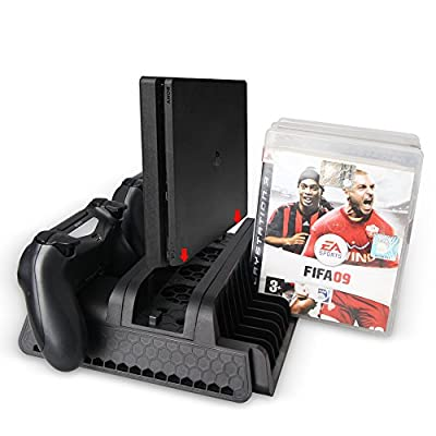 PS4 Pro & Slim Mufti-function Cooling Stand Docking Playstation 4 Console by DOBE (TP4-882) from DOBE