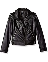D-Signed Girls' Big Descendants Studded Moto Jacket
