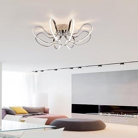 72 W Plafón Cromo LED Salón Lámpara moderna elegante lámpara ...