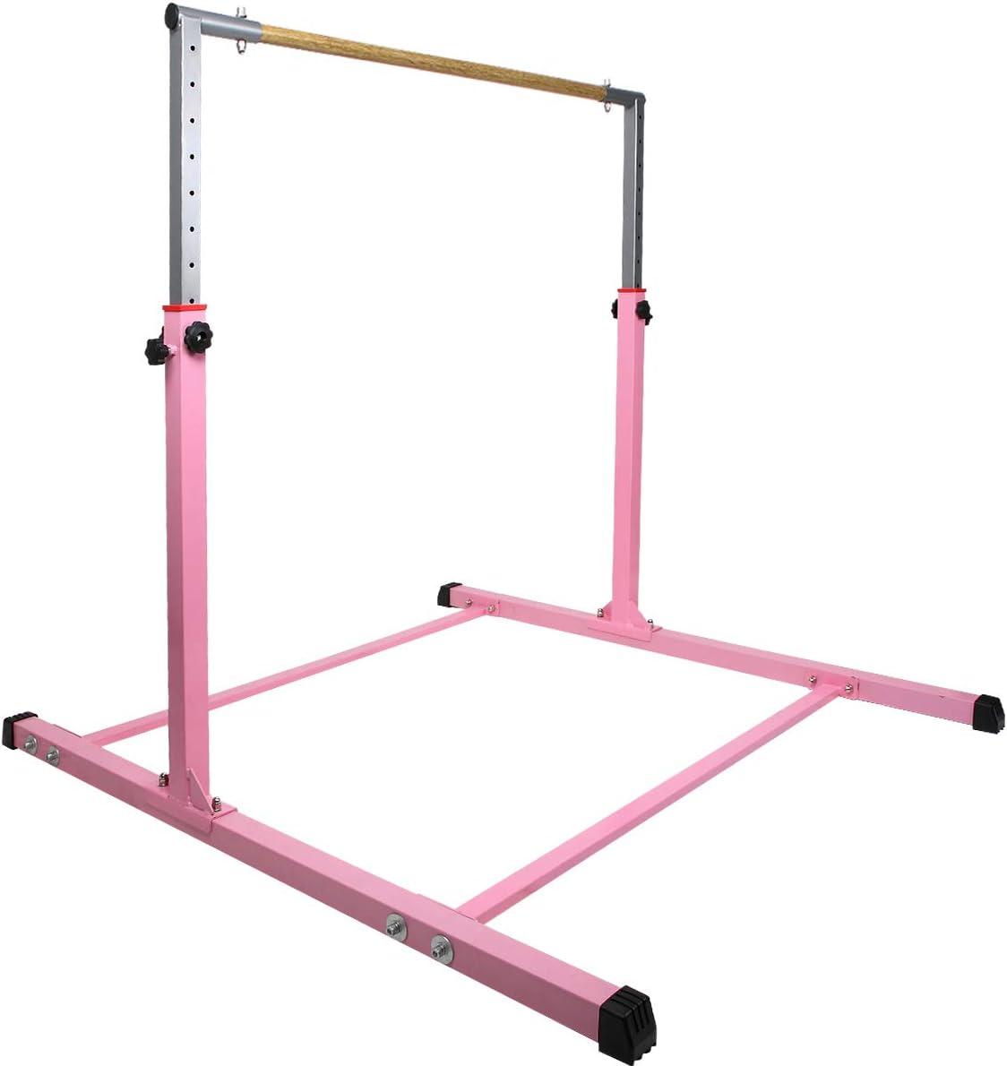 Height Adjustable 3 to 5 Horizontal Kip Bar for Kids SHIWEI Gymnastics Training Bar