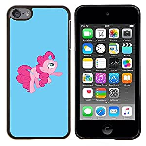 "Be-Star Único Patrón Plástico Duro Fundas Cover Cubre Hard Case Cover Para iPod Touch 6 ( Tail Pink Pony Hore Fairytale childresn"" )"