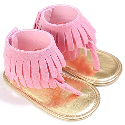 Zapatos de bebé,Auxma Bebé Cuna Zapatos Zapatillas antideslizantes suaves de las zapatillas de deporte del bebé para 3-18 meses Rosado