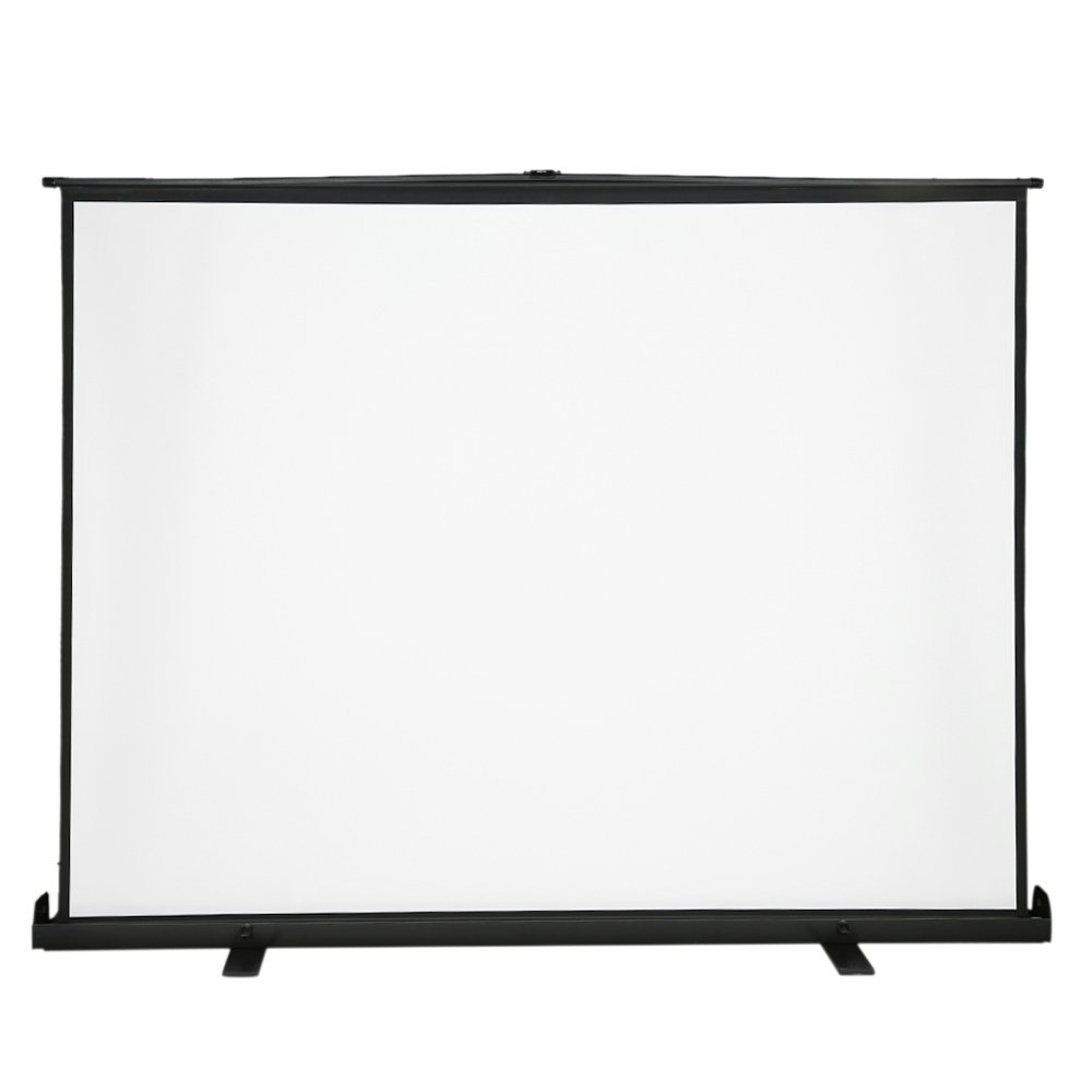 Andoer 100-Inch HD Projection Screen Manual Pull Up 100Inch Diagonal Aspect Ratio 4:3 Projection Screen w/ Adjustable Height Holder