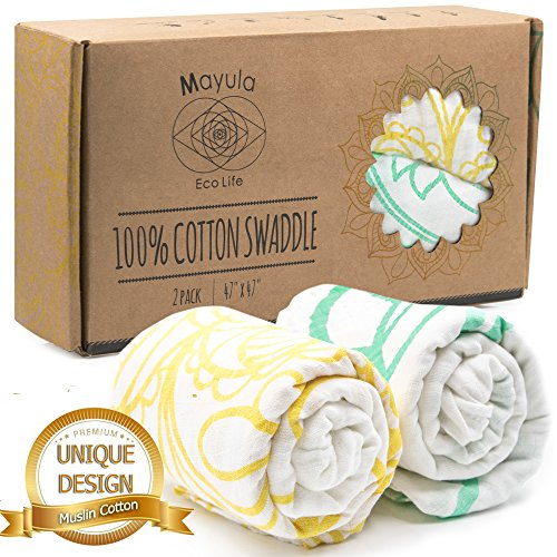 100-Cotton-Muslin-Swaddle-Blankets-Wrap-Your-Baby-with-Pure-Joy-Boy-Girl-Babies-Swaddlers-Soft-Swaddling-Receiving-Blanket-Kids-Bedding-Burp-Cloth-Bed-Stroller-Changing-Nursing-Cover