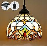 STGLIGHTING H-type 3 wire track light pendants Length 4.9 feet restaurant chandelier decorative Chandelier instant pendant light bulb not include Tiffany Pendant Lamp (gdtb0204)