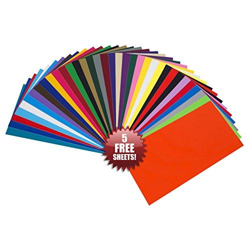 35 Pack Self Adhesive Vinyl Sheets Permanent For Cricut