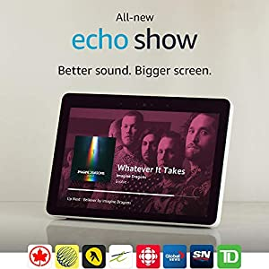 "All-new Echo Show (2nd Gen) – Premium sound and a vibrant 10.1"" HD screen - Sandstone"