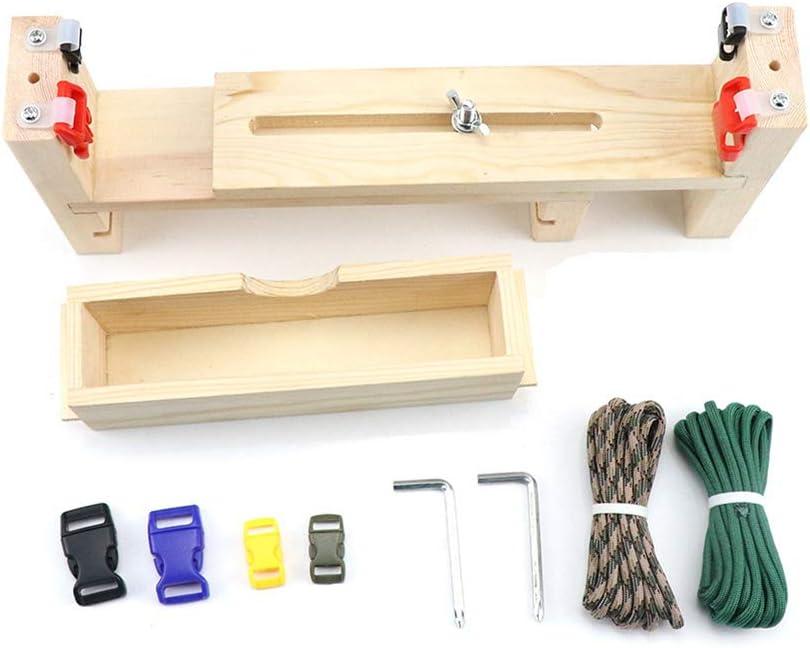 YiDing DIY Wood Paracord Jig Bracelet Maker Adjustable Weaving DIY Craft Maker Bracelet Knot Tool Bracelet Wristband Knitting Tool