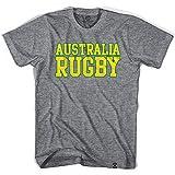 Australia Vintage Rugby T-shirt, Athletic Grey