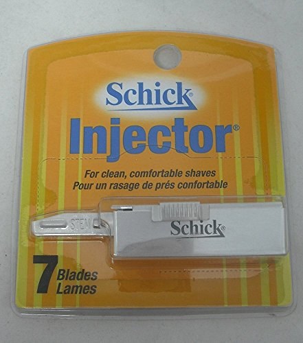 Injector Razor Blades - Schick Injector Plus Blade, Chrome, 7ct (2 Pack)