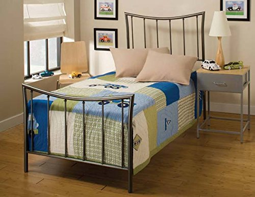 Hillsdale Furniture 1333BTW Edgewood Bed Set, Twin, Magnesium Pewter