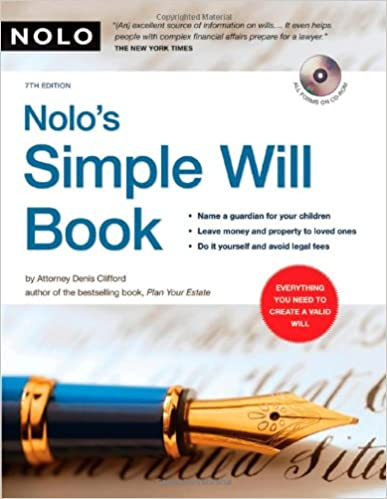 Nolos simple will book denis clifford attorney 9781413307139 nolos simple will book 7th edition solutioingenieria Images