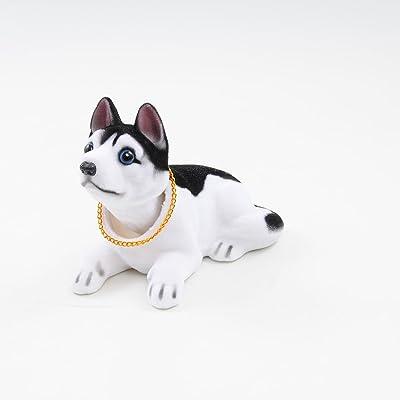Ebow Dashboard Head Dogs Nodding Heads Car Dash Puppy for Car Vehicle Decoration (Huskies): Toys & Games