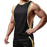 ha-fullshop Bodybuiding Clothing Low Cut Side Arm Holes Mesh Activewear Summer Vest Tank Tops SXB051