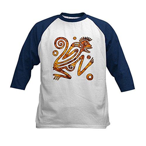 Truly Teague Kids Baseball Jersey Chinese New Year Aztec Style Fire Monkey 2016 - Navy/White, Small (6-8)