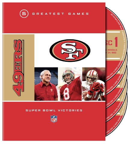 NFL: San Francisco 49ers - 5 Greatest Games: Super Bowl Victories by Warner Manufacturing