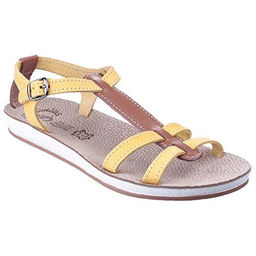 Sandalias de verano modelo Lemnos para mujer Coral/natural