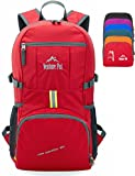 Venture Pal 35L Travel Backpack - Packable Durable Lightweight Hiking Backpack Daypack (Red)
