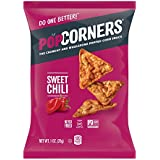 POPCORNERS Sweet Chili, Popped Corn Snacks, Gluten Free, Non -GMO, 1oz bags (Pack of 40)