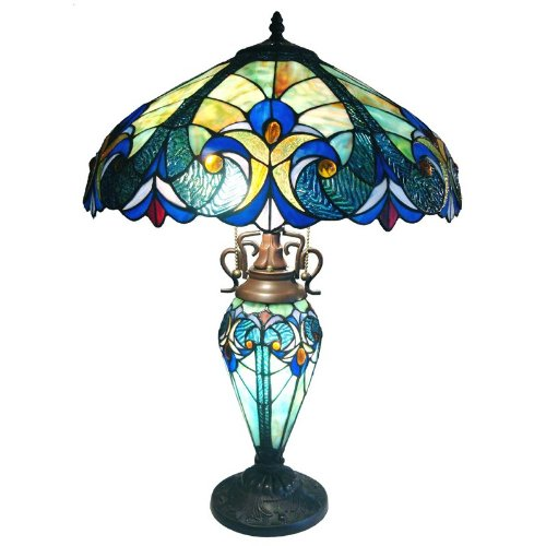 Chloe Lighting CH18780T-DT3 Light Victorian Double Lit Table Lamp