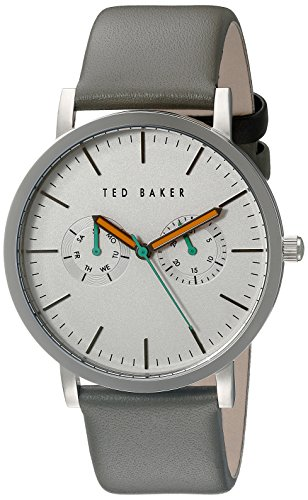 Ted Baker Round Dial (Ted Baker Men's TE1093 Smart Casual Round Grey Multi-Function Silver Dial Watch)