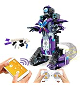 POKONBOY Building Blocks Robot Kits for Kids to Build, STEM Toys Engineering DIY Remote Control R...