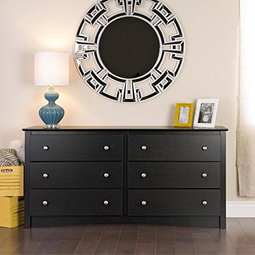 Metro Shop Broadway Black 6-drawer Dresser (Cheap Dresser And Mirror Set)