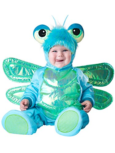InCharacter Costumes Baby's Dinky Dragonfly Costume, Green/Turquoise, (Dinky Dragon Infant Toddler Costume)