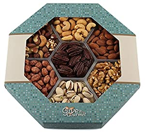 GIVE IT GOURMET, Freshly Roasted Healthy Nuts Gift Basket (Large Tray)