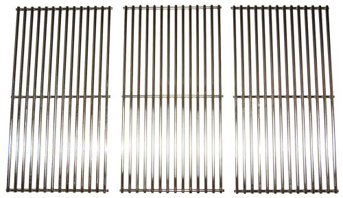 Music City Metals 591S3 Stainless Steel Wire Cooking Grid Replacement for Select Gas Grill Models by Brinkmann, Charmglow and Others, Set of 3 by Music City Metals