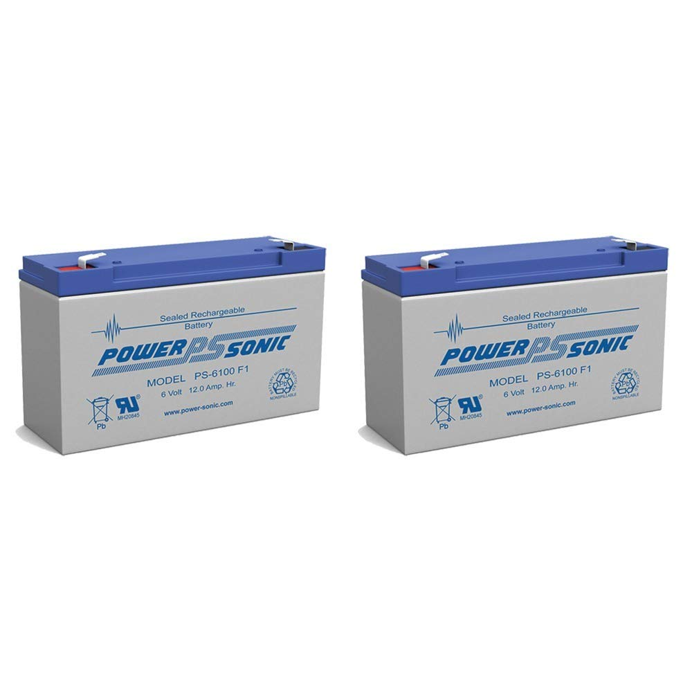 Powersonic PS-6100 6v 12ah Deep-cycle Rechargeable Sla Energy Storage Battery - 2 Pack Power-Sonic 4330204376