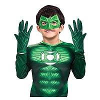 Accesorio del traje de los guantes del niño de la linterna verde