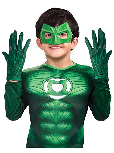 Green Lantern Child's Gloves Costume