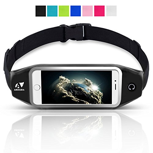 Running Belt / Waist Pack, AIKELIDA Outdoor Sports Fanny Pack Reflective Fitness...