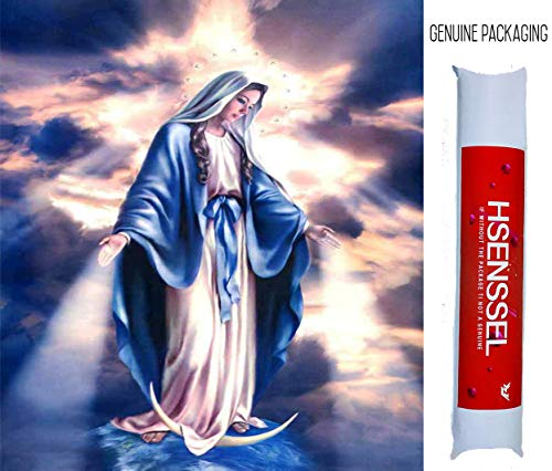 Hsenssel 5D DIY Diamond Painting Religious Figure Maria Full Round Drill Diamonds Embroidery Cross Stitch Home Decor Pictures 40x50cm (Our Lady Mother of God)