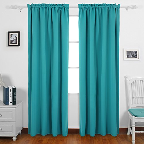Deconovo Decorations Curtains Darkening Turquoise