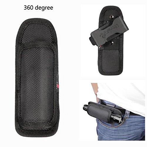 Lights & Lighting - Nylon 360 Rotatable Flashlight Case Bag Holder Pouch Belt 145x40mm - Flashlight Holster Belt Holder Duty Tactical Flashlights Flash Light Nylon Rotatable Case - 1PCs